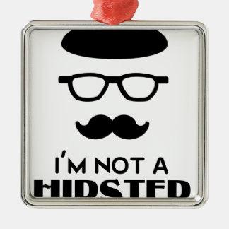 Hipster design metal ornament