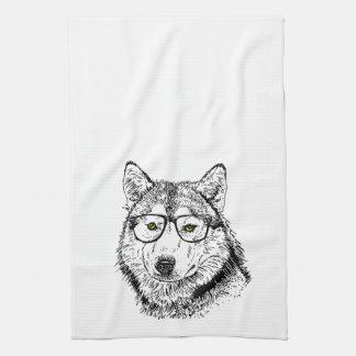 Hipster Dog Kitchen Towel