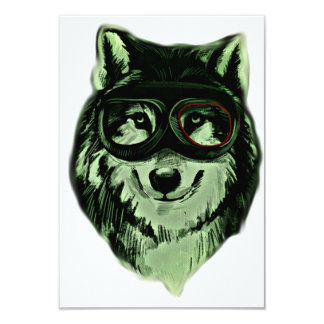 "Hipster Dog Style 3.5"" X 5"" Invitation Card"
