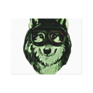 Hipster Dog Style Canvas Print