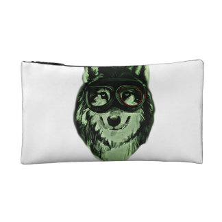 Hipster Dog Style Cosmetic Bag