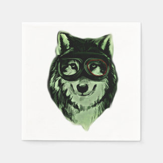 Hipster Dog Style Disposable Napkins