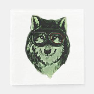 Hipster Dog Style Paper Napkins