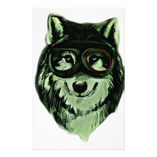 Hipster Dog Style Personalized Stationery