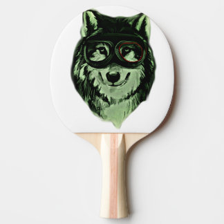 Hipster Dog Style Ping Pong Paddle