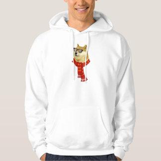 Hipster Doge Men's Hoodie