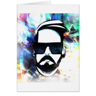 Hipster Dude Card