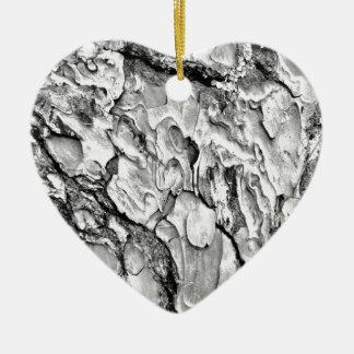 hipster effect texture ceramic heart ornament