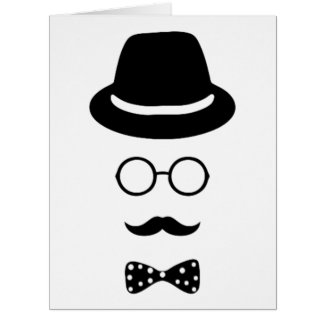 Hipster Face Big Greeting Card