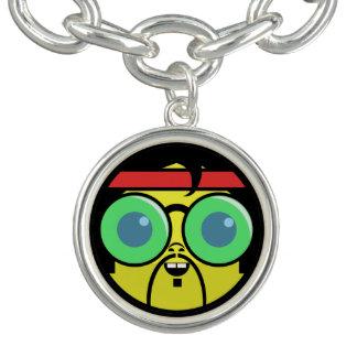 Hipster Face Charm Bracelet