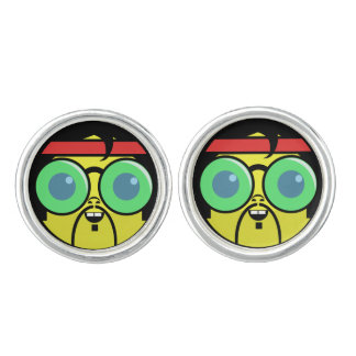 Hipster Face Cuff Links