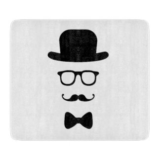 Hipster Face Cutting Board