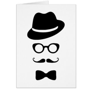 Hipster Face Greeting Card