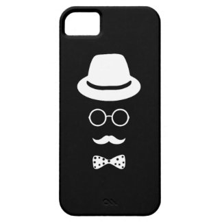 Hipster Face iPhone 5 5S Barely There iPhone 5 Cases