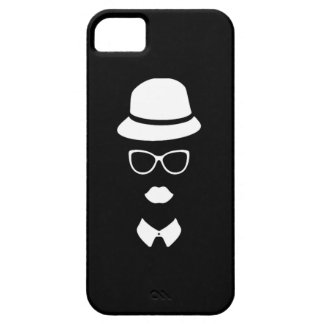 Hipster Face iPhone 5 5S Barely There iPhone 5/5S Cases