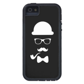 Hipster Face iPhone 5 5S Tough Xtreme iPhone 5 Case