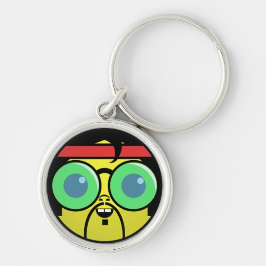 Hipster Face Keychain