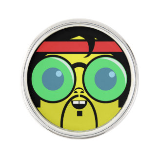 Hipster Face Lapel Pin