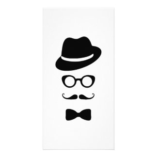 Hipster Face Photo Card