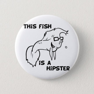 Hipster Fish 2 Inch Round Button