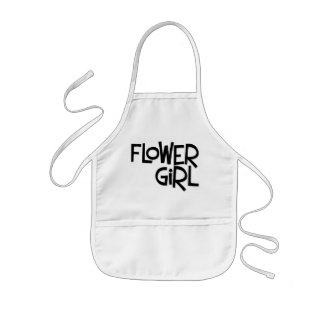 Hipster Flower Girl Aprons