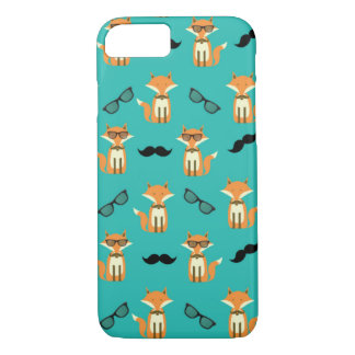 Hipster Fox - Foxes with Glasses and Mustaches iPhone 7 Case