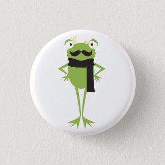 Hipster Frog 1 Inch Round Button