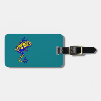 Hipster Frog Luggage Tag