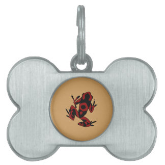 Hipster Frog Pet ID Tag