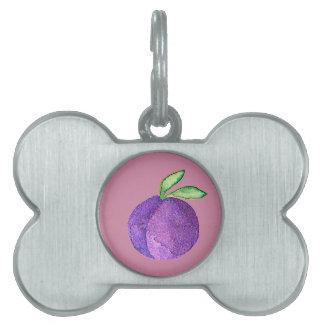 Hipster Fruit Pet Name Tag