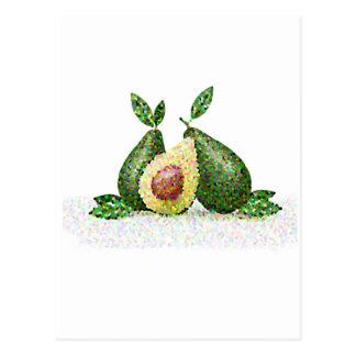Hipster Fruit Postcard