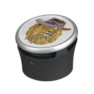 Hipster Funny Lion Cat Bluetooth Speaker