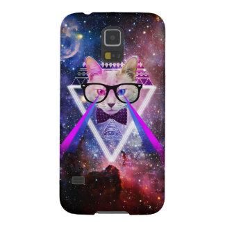 Hipster galaxy cat galaxy s5 case