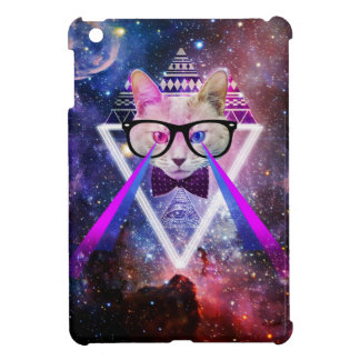 Hipster galaxy cat iPad mini cases