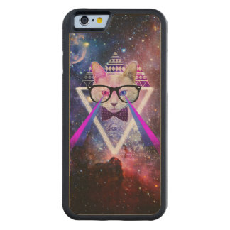 Hipster galaxy cat maple iPhone 6 bumper