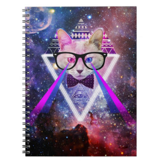 Hipster galaxy cat note books