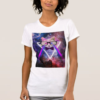 Hipster galaxy cat T-Shirt