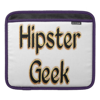Hipster Geek Green Gold iPad Sleeve