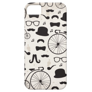 Hipster geek mustache style iPhone 5 cover