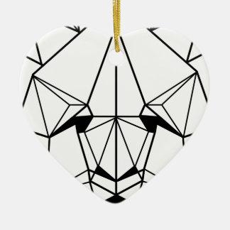 Hipster Geometric Panda Ceramic Ornament