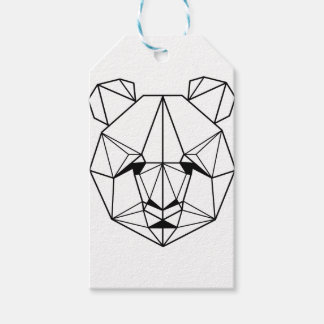 Hipster Geometric Panda Gift Tags
