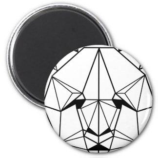 Hipster Geometric Panda Magnet