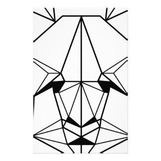 Hipster Geometric Panda Stationery