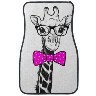 Hipster Giraffe Car Mat