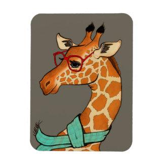 Hipster Giraffe Magnet