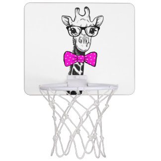 Hipster Giraffe Mini Basketball Hoop