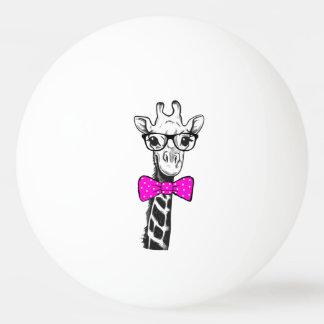 Hipster Giraffe Ping Pong Ball