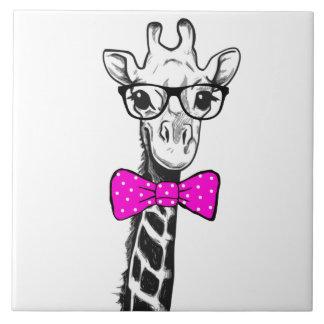 Hipster Giraffe Tile