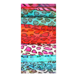 Hipster girly  abstract animal print pattern photo card