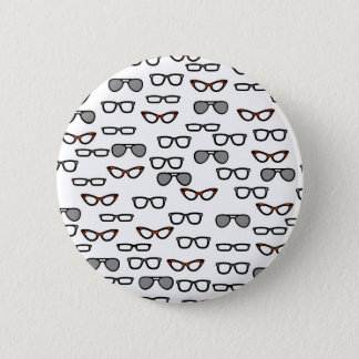 Hipster glasses 2 inch round button